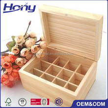 Chinese Factory Direct Sale Private Label Essential Oils Wooden Box Organizer