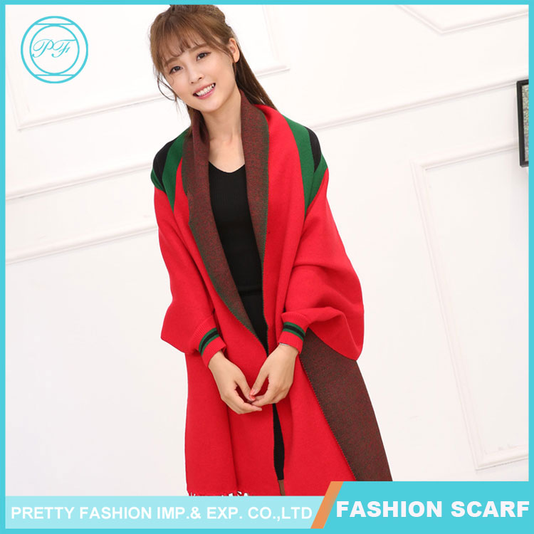 Winter Double-sided Cashmere Pashmia Scarf Fashion Wholesale Shawl Collar