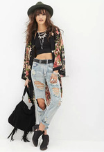 2017 New Fashion Women Spring Autumn Kimono Blouse Printed Long Sleeve Loose Irregular Shawl Cardigan Tops Thin Coat Blusas