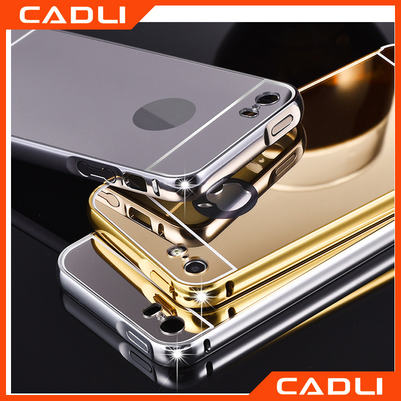 Luxury Mirror case For Iphone 6 6s 4.7' High Quality Metal Aluminum Case + Ultra Slim Acrylic Back Cover