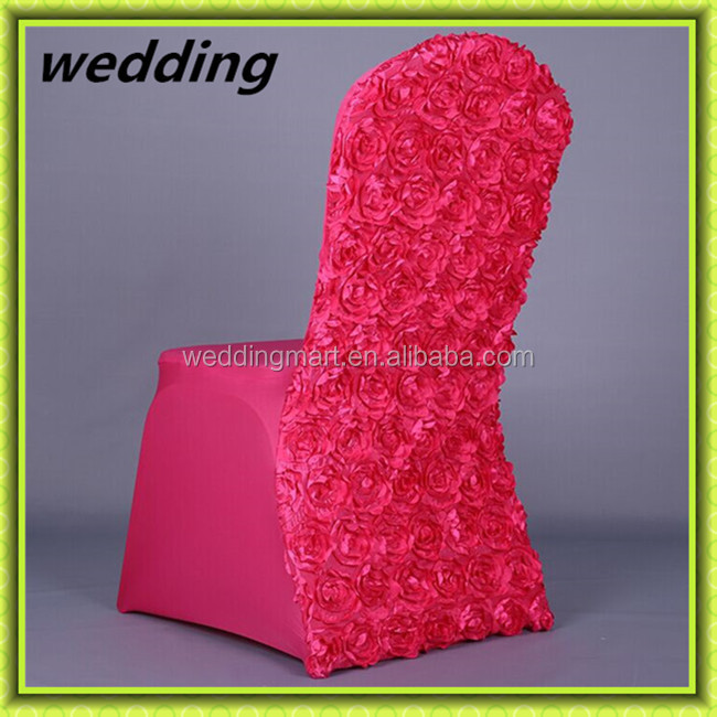 Romance Flower spandex chair cover wedding for hotel