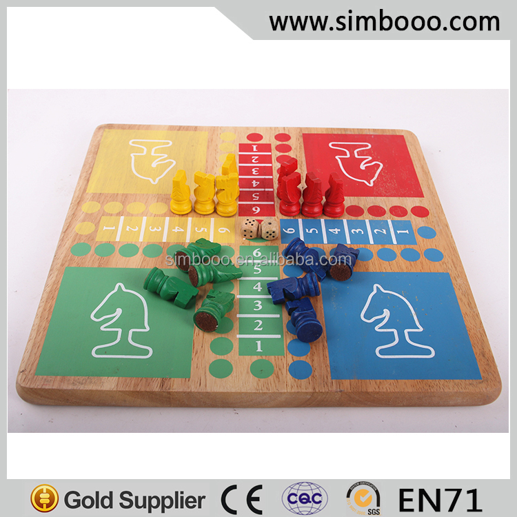 Double Sides Wooden Gobang Chinese Checkers Halma Indoor Game Educational Toys Chess Game