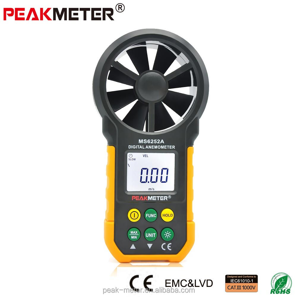 Cheap Handheld Digital velocity meter MS6252A for wind speed measuring