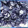 Large supply baoshi blue tumbled glass for landscaping dark red tumbled glass for garden decoration