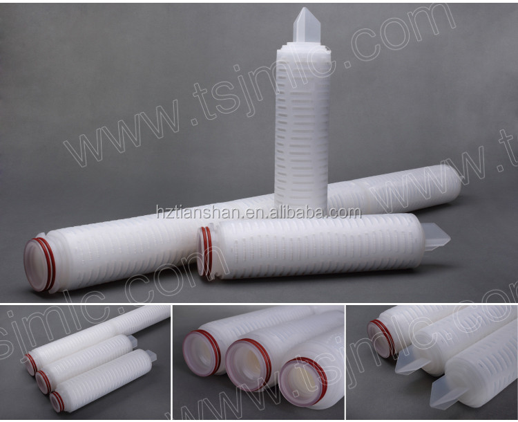Good quality food grade abusolute rated 0.45 micron P7 adaptor pes filter cartridge for wine sterile filtration