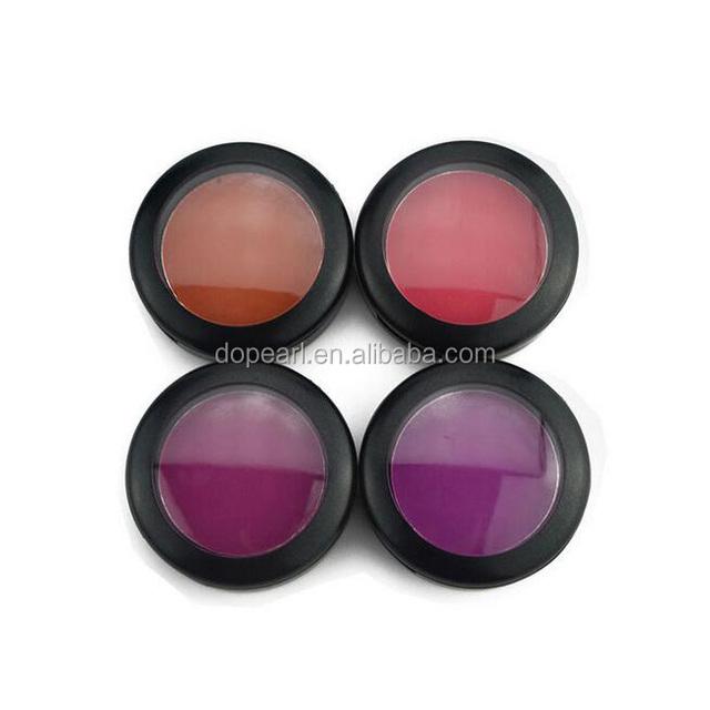 OEM single color cosmetics cheek powder blush palette without logo