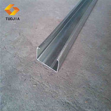 Thin wall steel c channel, hot rolled channel steel,black iron channel weights in Hebei
