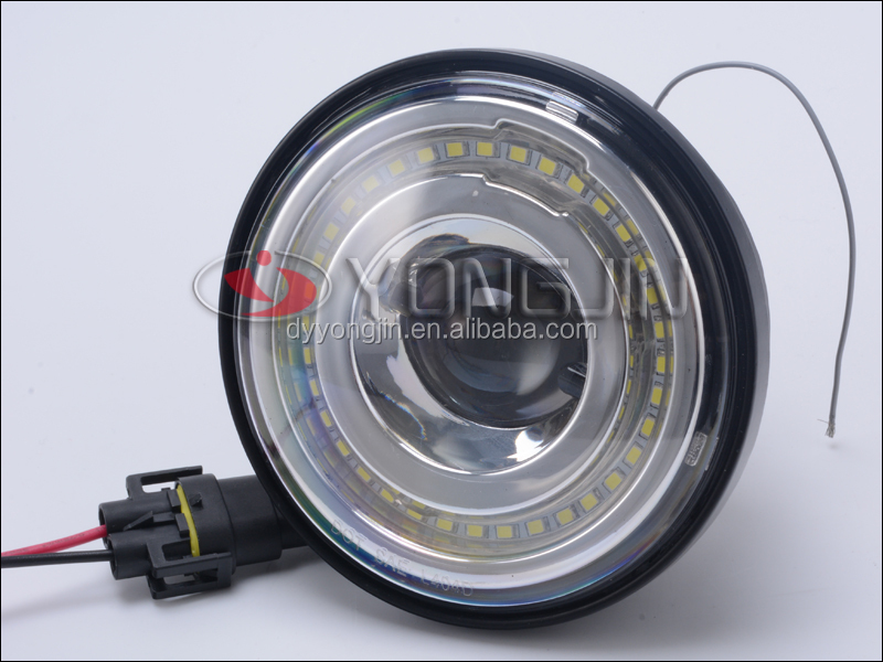 12v Angel Eyes Headlight Driving Light 4.5inch for Harley Motorcycle