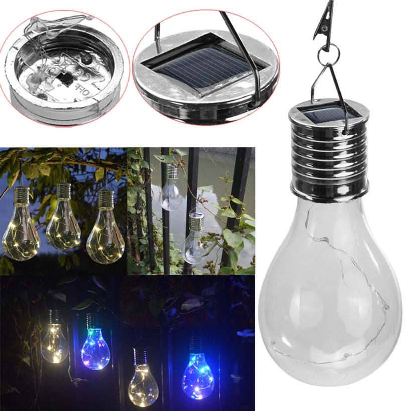 5* White LED Bulb Lights Romantic Solar Hanging Light for Garden Decoration, Camping, Hiking