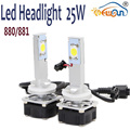 Super Bright Led 880/881 25W Car Headlight Easy Install 1600lm Auto Conversion Kit