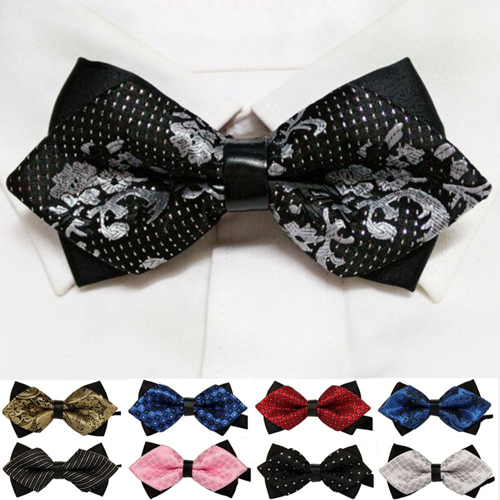 MOON BUNNY 20 style summer men's neckwear neck self gold bow tie silver black silk fashion casual male pink bowtie wedding lote