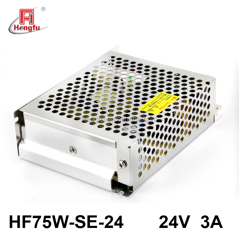 Hengfu power supply HF75W-SE-24 economical single output switching power supply with EMI filter