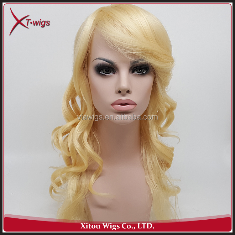 Wholesale Cheap No Shedding Wavy Synthetic Full Lace Wigs