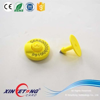TPU Thermoplastic Polyurethane RFID Animal Ear Tag Manufactures