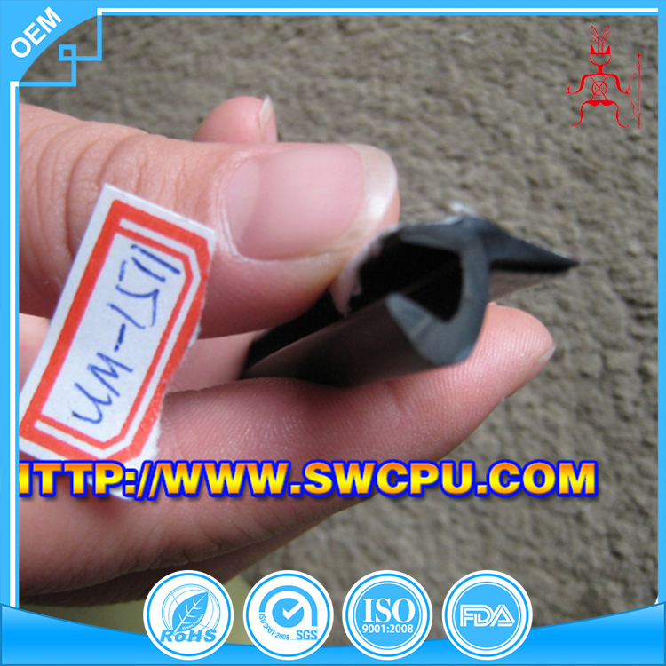 Transparent reinforced rubber profile silicon