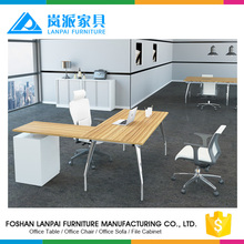 Executive office table specifications corner computer office desk with aluminium base KL-01