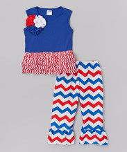 2017 American national day girls boutique clothing cute 4th of July children cloth