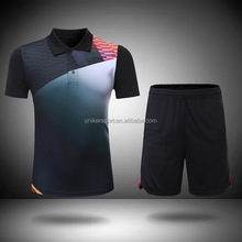 New pattern dry fit badminton sport t-shirts and shorts/sportwear set