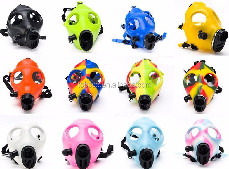 China wholesale hookah accessory food silicone gas mask with pipe