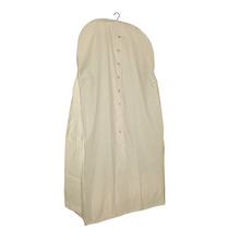 1GM0142 Reusable Acid-Free 100% Natural Cotton Muslin Cover Bag Custom Extra Wide Wedding Dress Bridal Gown Garment Bag