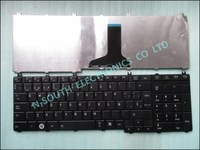 Replacement laptop keyboard for toshiba l650 c650 c660 l655 spanish teclado black