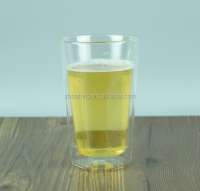 Square bottom double wall glass tumbler for tableware
