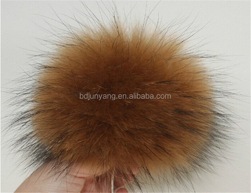 colorfur fur pom pom genuine raccoon dog fur ball raccoon fur pompom