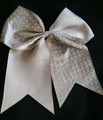 Wholesale Rhinestone Stripes Teenager's Cheer Hair bows with Elastic Band