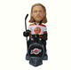 Good qualtity customized resin special hockey player bobbl head riding a bike on a bike