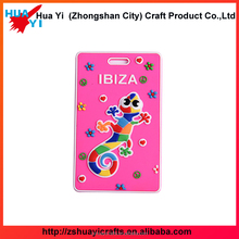Wholesale Custom Blank Plastic/Rubber Luggage Tag Soft PVC Name Tag - HuaYi Crafts Factory