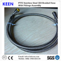 PTFE Stainless Steel 304 hoses wiht Female fittings