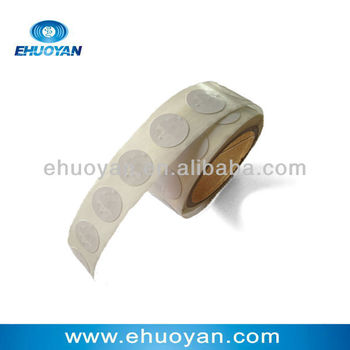 13.56 MHz Rfid Tag of 14443A chip sticker paper Round 27mm White