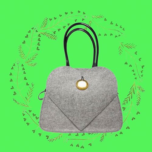 Miracle felt scalloped tote purse bag for chrismas