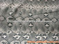 100% Polyester PU Coated Snake Printed Fabric