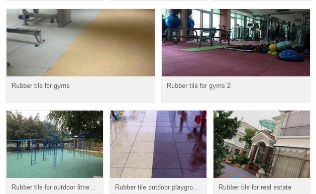 Safety & Environmental Rubber Tiles for Varied Sports Fields