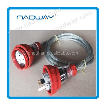 SAA Aus extension cord plug Nadway provide250V