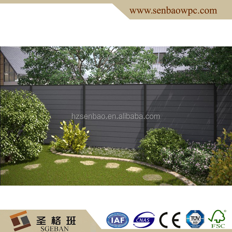 Wood Plastic Composite Privacy Garden Rail / Fencing
