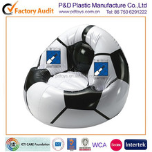 BSCI,ICTI PVC/TPU football promotion inflatable oval sofa
