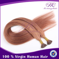 high quality flat tip hair human weft indian women i tip hair 18&quot
