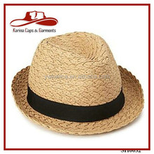 Womens / Mens Fedora Trilby Gangster Cap Summer Beach Sun Panama Straw Hat