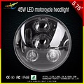 "40W High/low beam Har-ley led h4 Headlight 5.75""inch Motorcycle LED Headlamp"