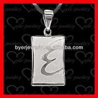 2014 newest fashion alphabet letter stainless steel pendant wholesale