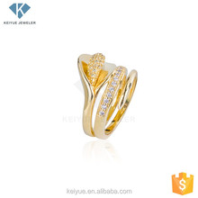 Latest ladies finger indian 18k gold plated rings design cz jewellery for girls