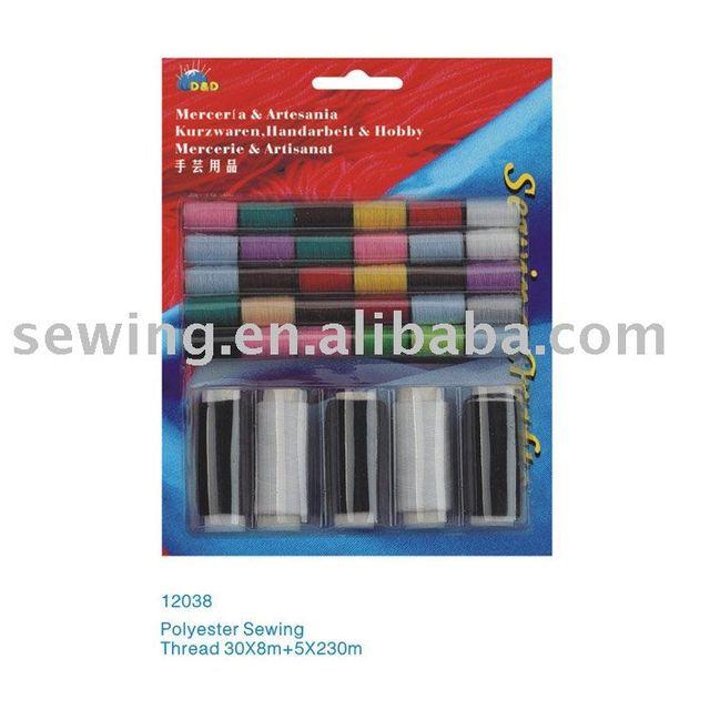 D&D 5*120m Polyester Thread Set cheap 40/2 100% spun polyester sewing thread (12038)