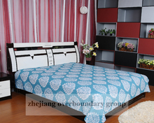 Luxury reactive printing branded print quilt cover set bedding set