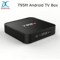 Amlogic S905 Quad Core 2GB RAM 8GB ROM KODI 16.0 2.4G WIFI Bluetooth T95M Smart TV Box With AV Output Android TV Box