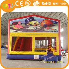 16ft x 16ft high quality commercial inflatable bouncers with basketball hoop, bounce houses, inflatable castles