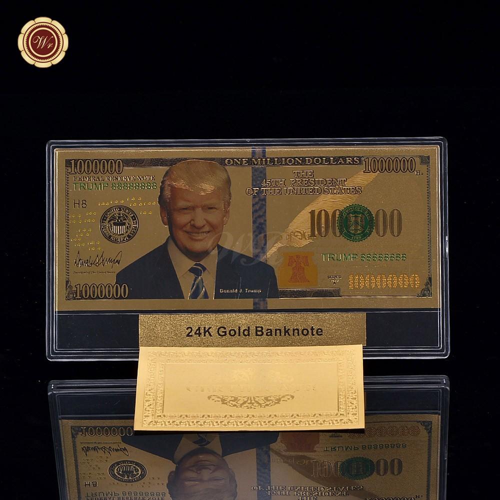 Die 45th Präsident von US Donald J. Trump 100 Dollarschein Gold ...