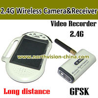2.4GHZ wireless mini camera dvr with 2.8 inch lcd monitor, video recording, support tf card