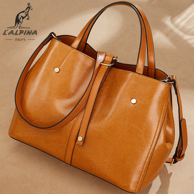 Hot selling top grade luxury retro leather tote big bag women fashion shoulder ladies <strong>handbags</strong>
